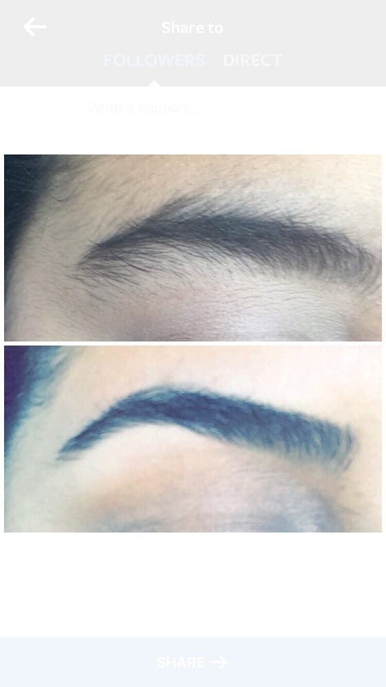 My Before And After Seriously The Best Place To Get Your Eyebrows