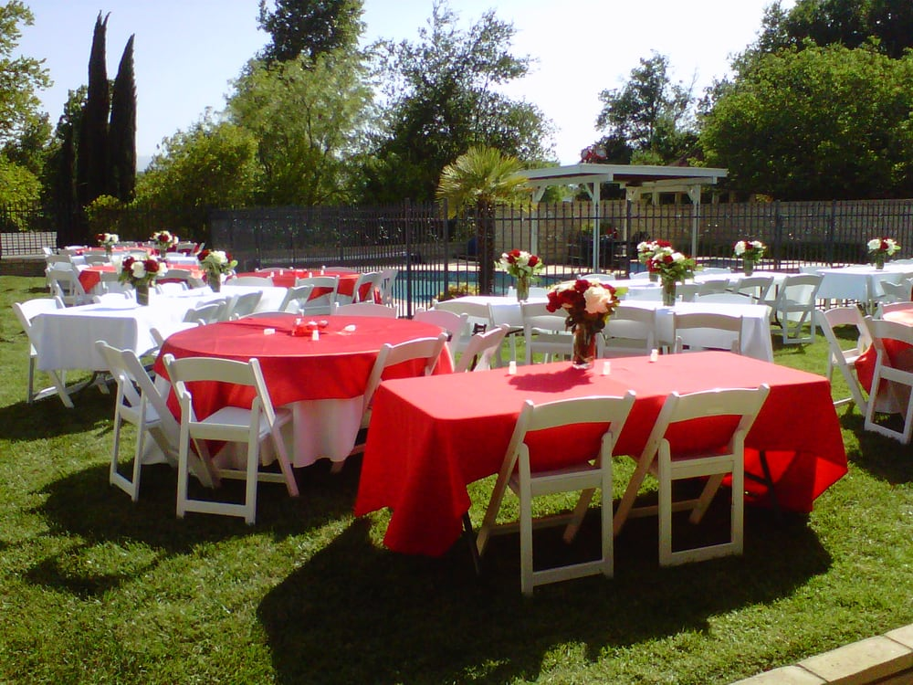 Perfect backyard Wedding set up - Party Planners Plus - Yelp