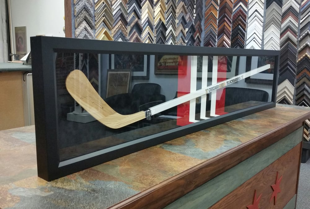 Chicago Blackhawks Marian Hossa signed hockey stick in a frame - Yelp