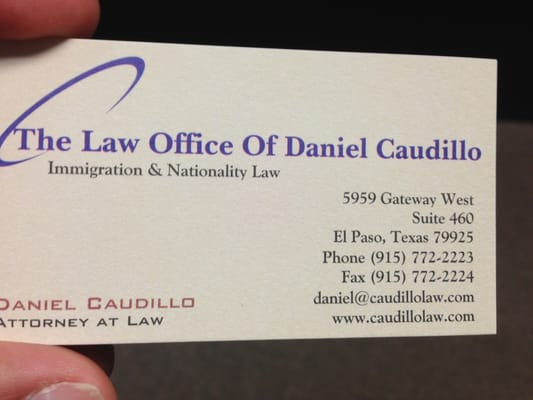 The law office of daniel caudillo immigration law 5959 gateway w photo of the law office of daniel caudillo el paso tx united states reheart Image collections