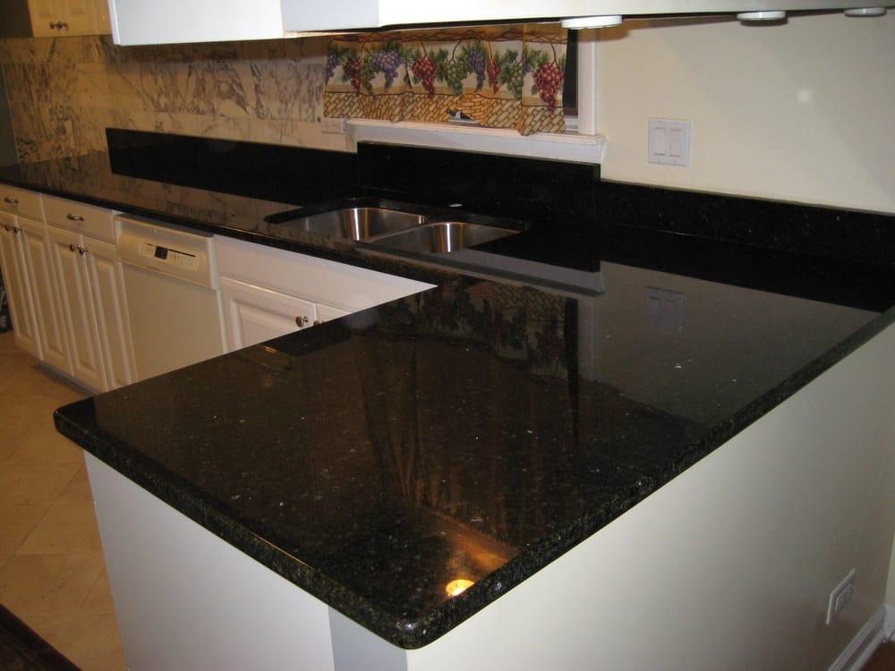 Uba tuba kitchen by art granite countertops inc yelp for Granite countertop support requirements