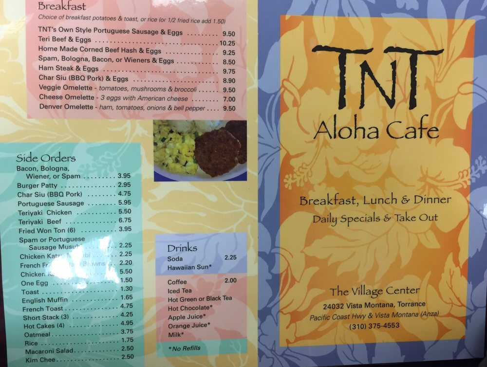 Tnt S Aloha Cafe Torrance Ca