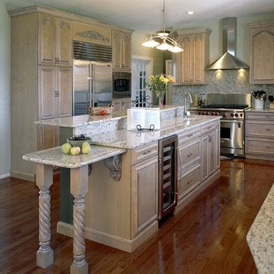 Maple cabinets with White glaze. Granite countertops. | Yelp on Maple Cabinets With White Granite Countertops  id=91385