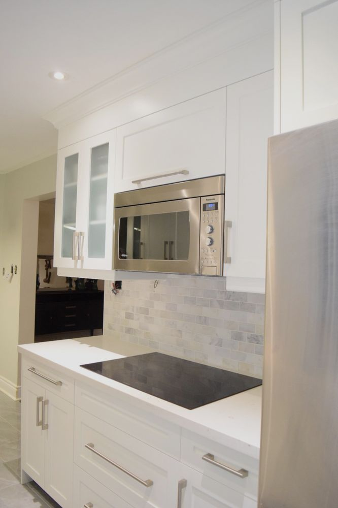 Toronto custom kitchen - kitchen remodeling by Devix Kitchens. Custom kitchen cabinets and quartz countertop. - Yelp