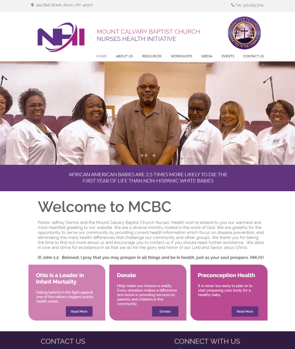 Recently Launched Mount Calvary Baptist Church Nurses Health