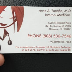 Anne a tanabe md internal medicine 321 n kuakini st kalihi photo of anne a tanabe md honolulu hi united states business reheart Gallery
