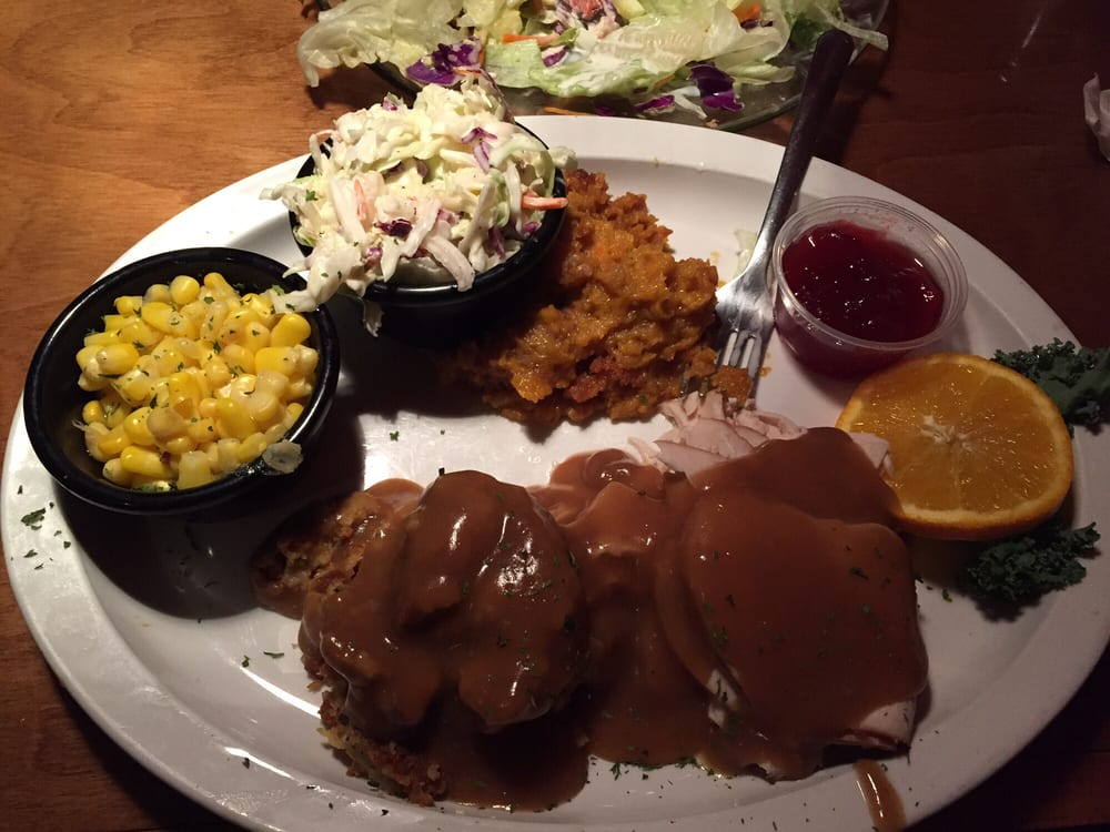 Turkey And Dressing Plate With Salad And Cole Slaw Yelp