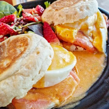 Photo of Cocoa Grinder - Brooklyn, NY, United States. Salmon & Eggs Benedict