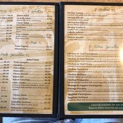 La Bella Italian Restaurant Garland Menu