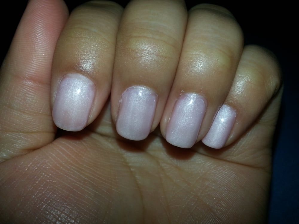 Bad gel job. Color was uneven and nail polish all over cuticles and ...