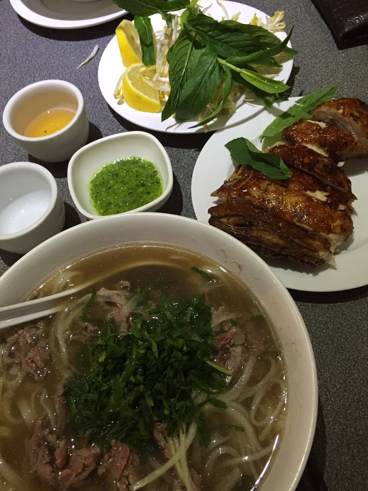 Crispy chicken and rare beef pho yelp for Asian cuisine and pho