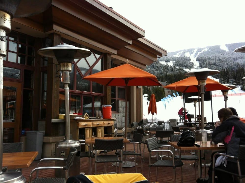 Photo Of Milestones Restaurants Whistler Bc Canada Patio At