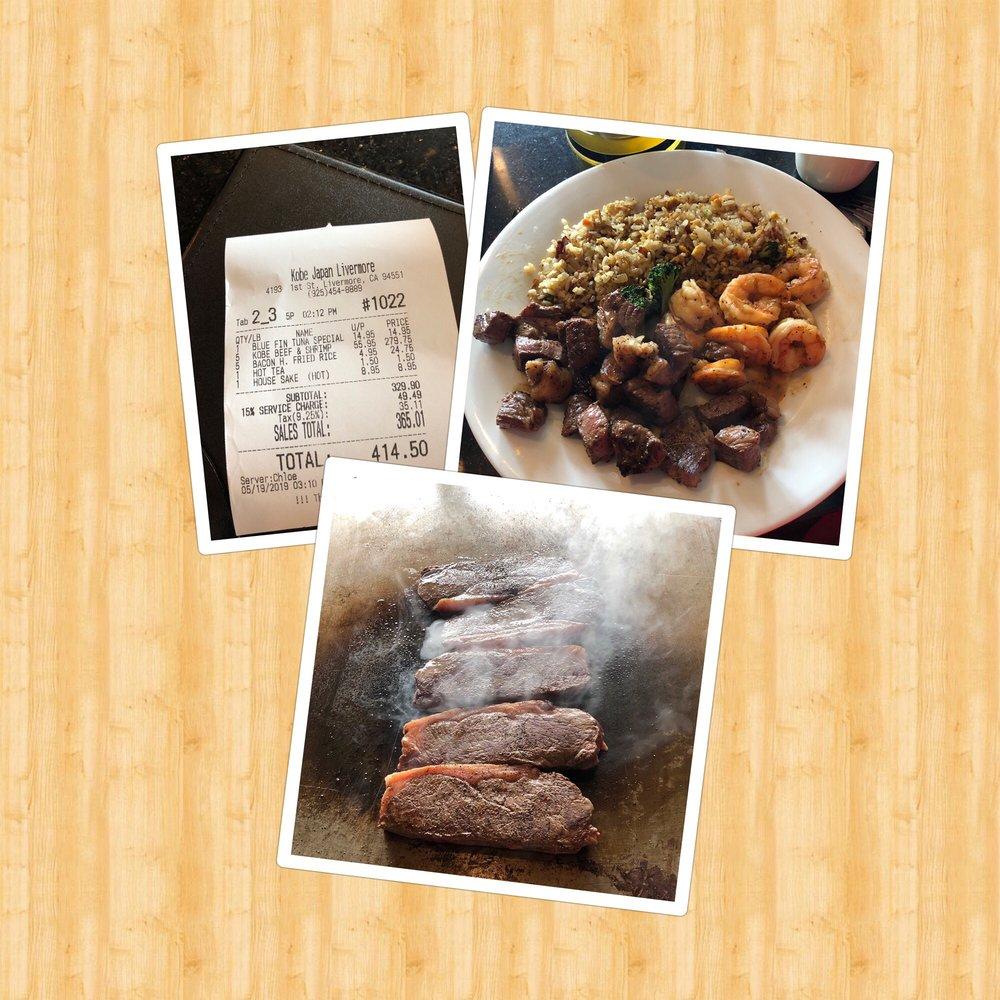 Kobe Japan Restaurant Livermore Gift Card Livermore Ca