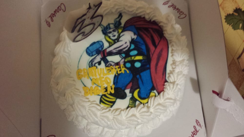 For My Husbands 33rd Bday A Thor Cake With Happy Birthday