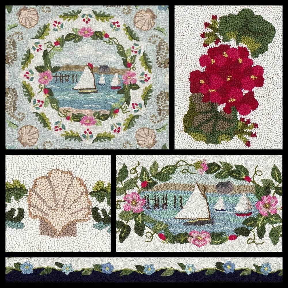 Western Ma Rugs: Cape Cod Hooked Rug Collection