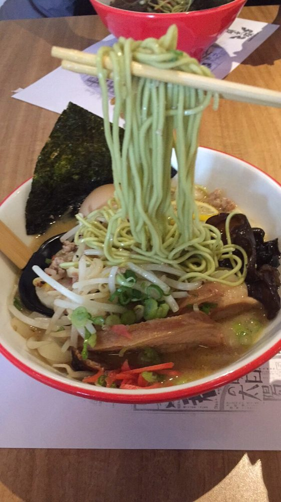 Green Tea Noodles With Chili Miso Ramen Yelp