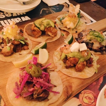 ... , Hong Kong. Taco platter, one of each taco (excluding the fish taco