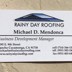 rancho cucamonga business license Rainy Day Roofing - Roofing - 9295 E 9th St, Rancho Cucamonga, CA ...