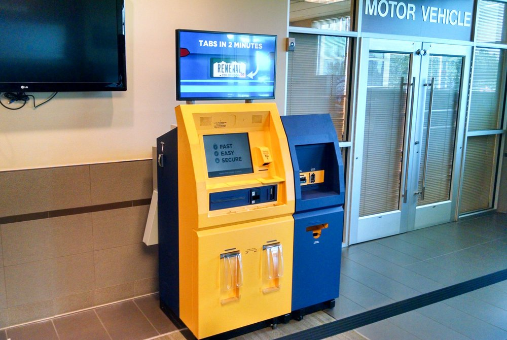 Mv express self service kiosk for registration renewals for Motor vehicle department registration