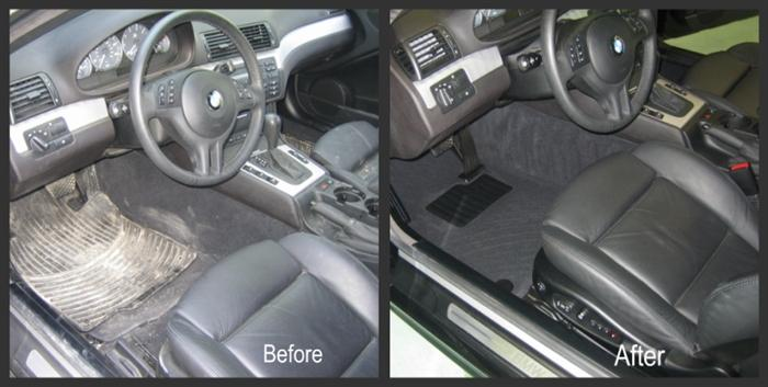 Before and after of interior car detailing services yelp for Interior exterior car wash near me