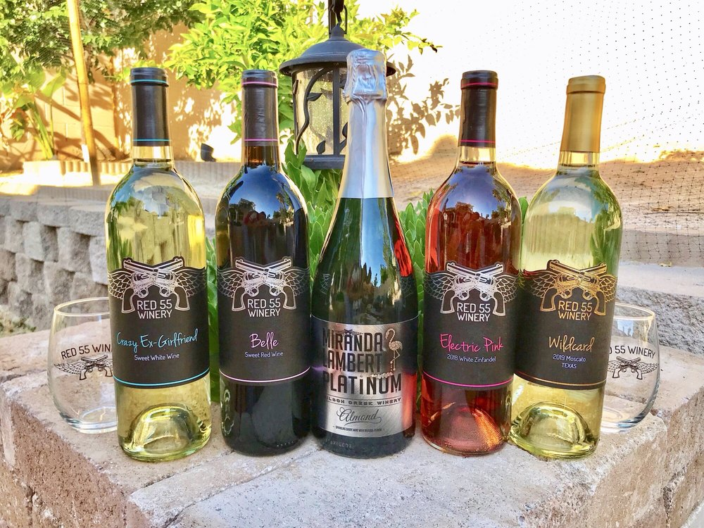 Red 55 winery: 114 E North St, Lindale, TX