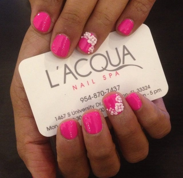 Gel manicure 3 d nail designs by christina yelp for Acqua nail salon