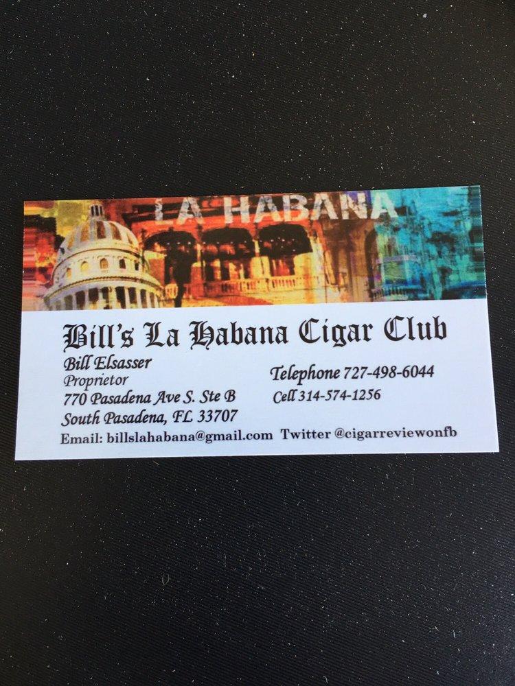 Bill's La Habana Cigar Club: 770 Pasadena Ave S, Saint Petersburg, FL