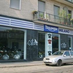 showroom triumph milano - chiuso - concessionari moto - viale