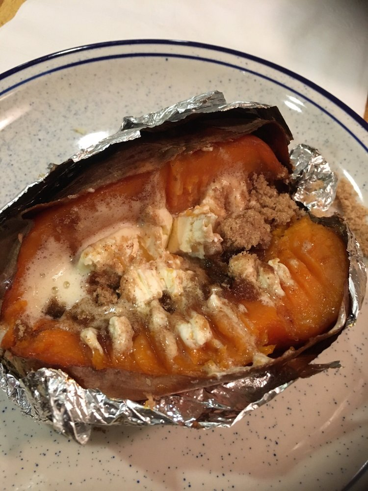 A Sweet Potato With Butter Brown Sugar And Cinnamon Yelp
