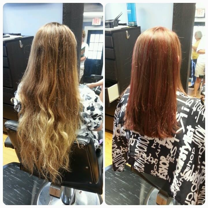 Before And After At Concord NC Hair Salon, SNOBS Salon