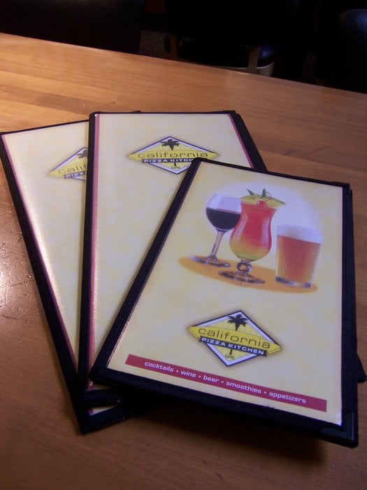 California Pizza Kitchen Drink Menu cpk dinner & drink menu. - yelp