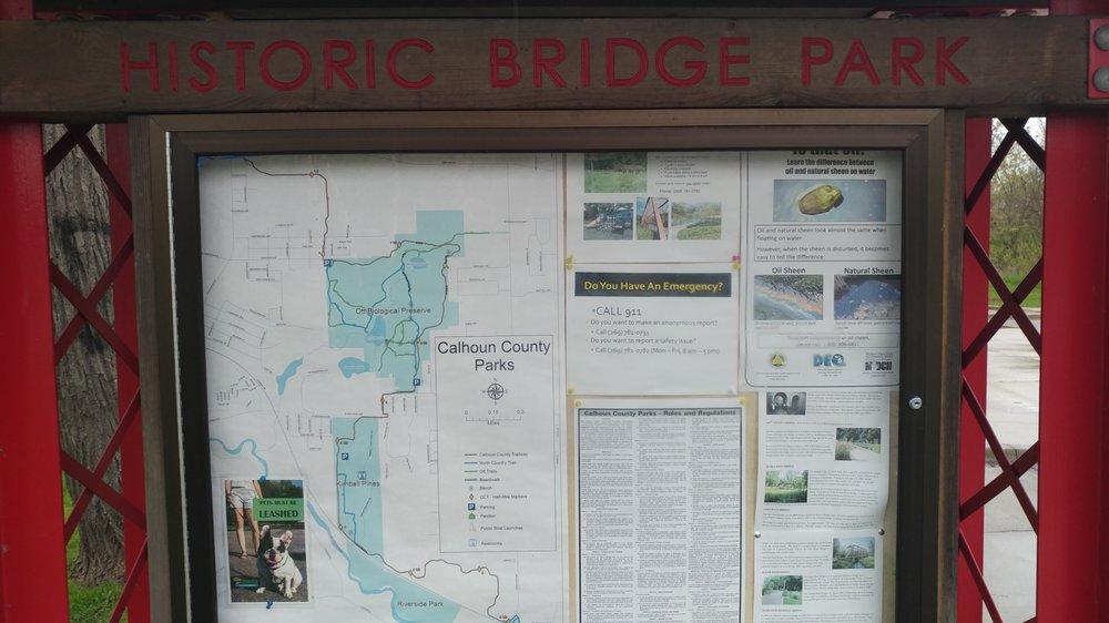 Historic Bridge Park: 14930 wattles Rd, Battle Creek, MI