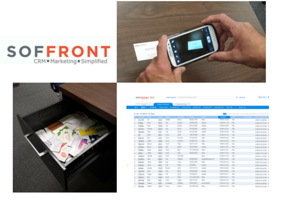 Soffront crm comes with business card scanner app on your phone photo of soffront software las vegas nv united states soffront crm comes reheart Images