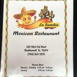 Photo Of La Familia Mexican Restaurant Burkburnett Tx United States