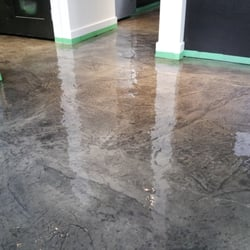 Photo Of Modern Surfaces Victoria Bc Canada Clear Epoxy Over Stamped Concrete