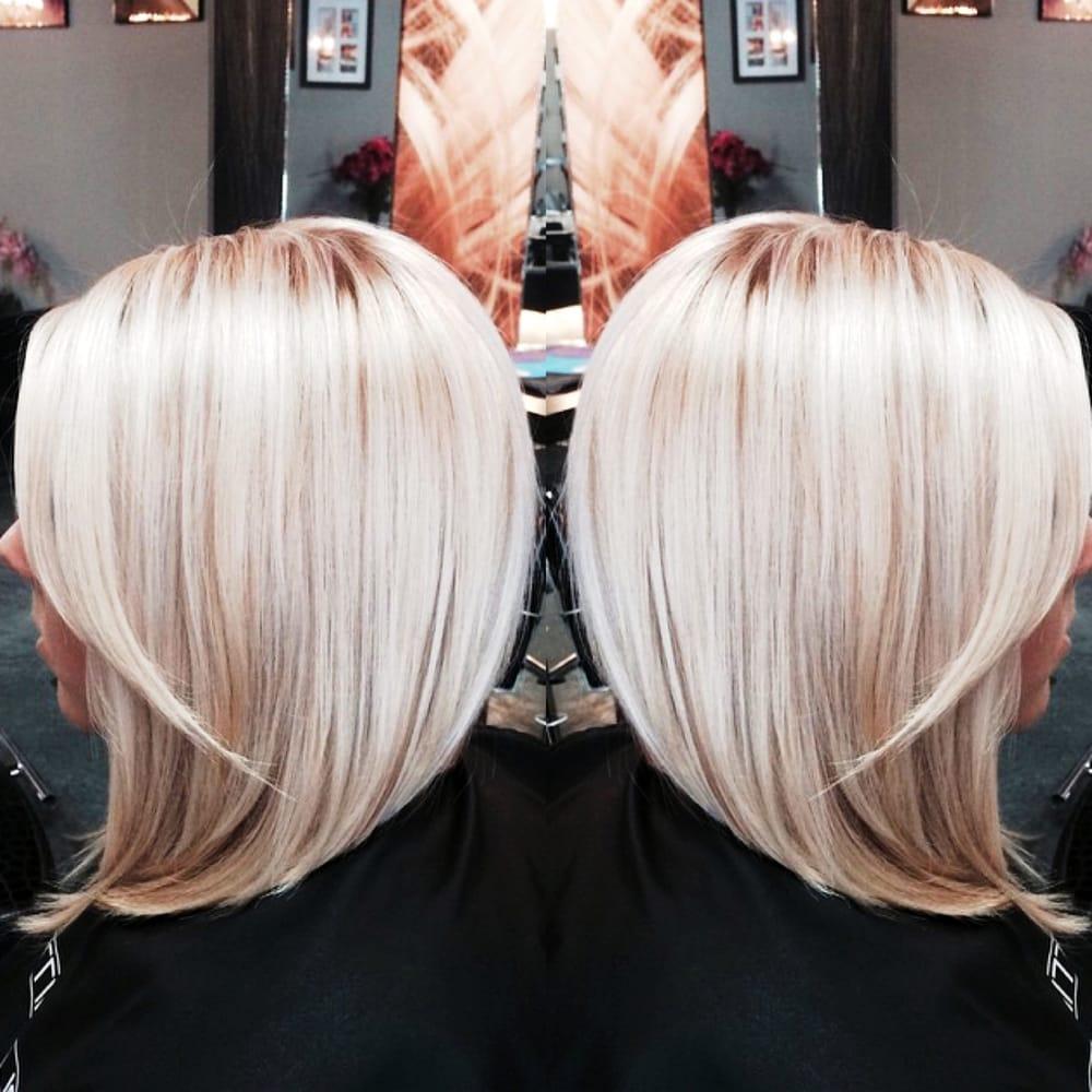 Real Blush Hair Blonde Platinum Long Bob Highlights Blonde