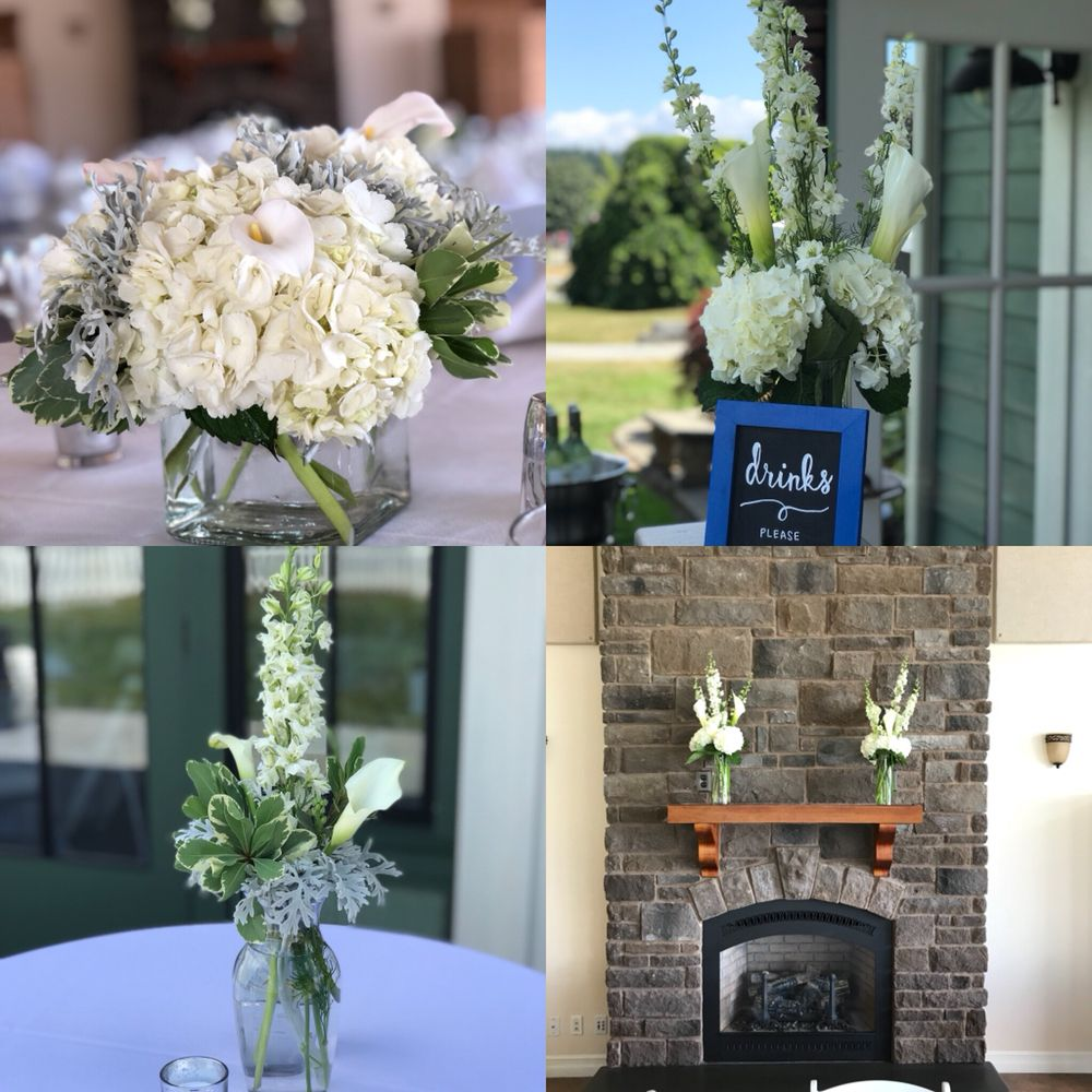 All White Flowers For Wedding Reception Table Centerpieces Bar