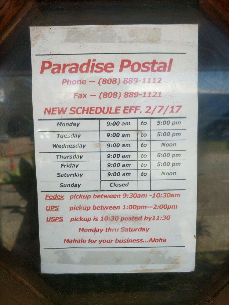 Paradise Postal: 55-3419 Akoni Pule Hwy, Hawi, HI