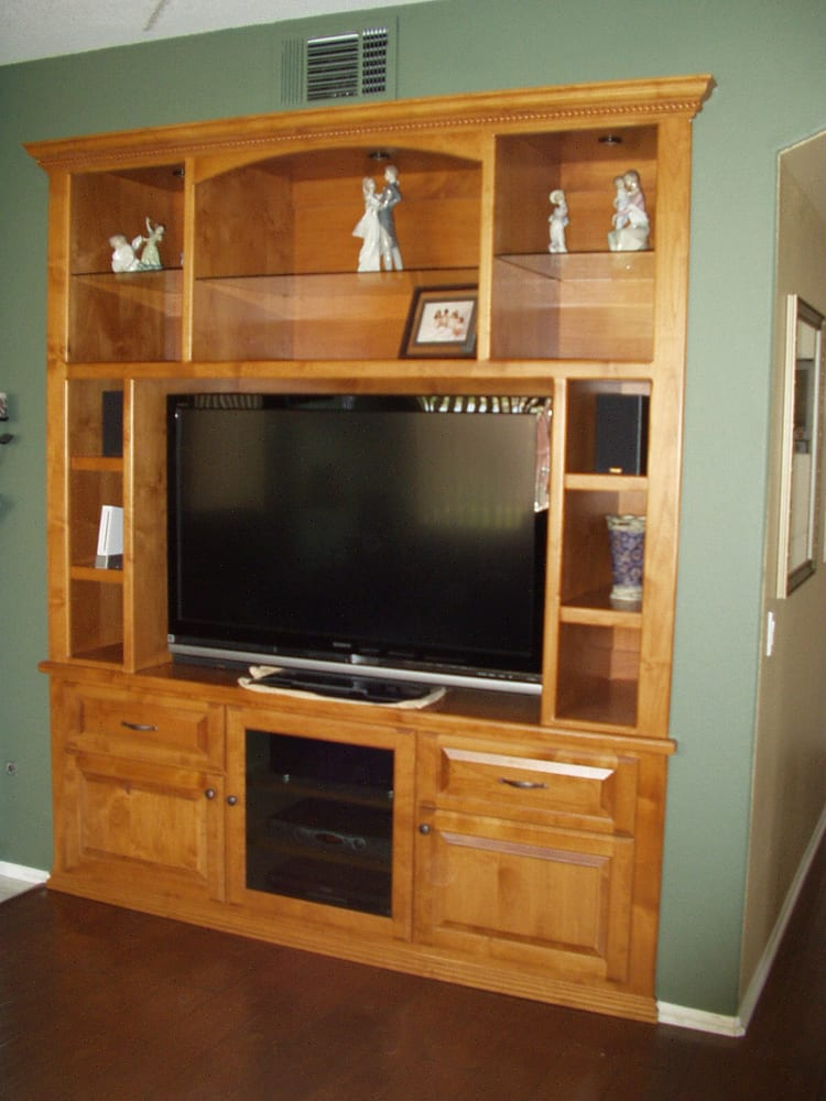 Entertainment Center With Glass Shelves Smoked Glass Door For