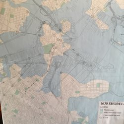 Po Of West End Museum Boston Ma United States 1630 Map Of