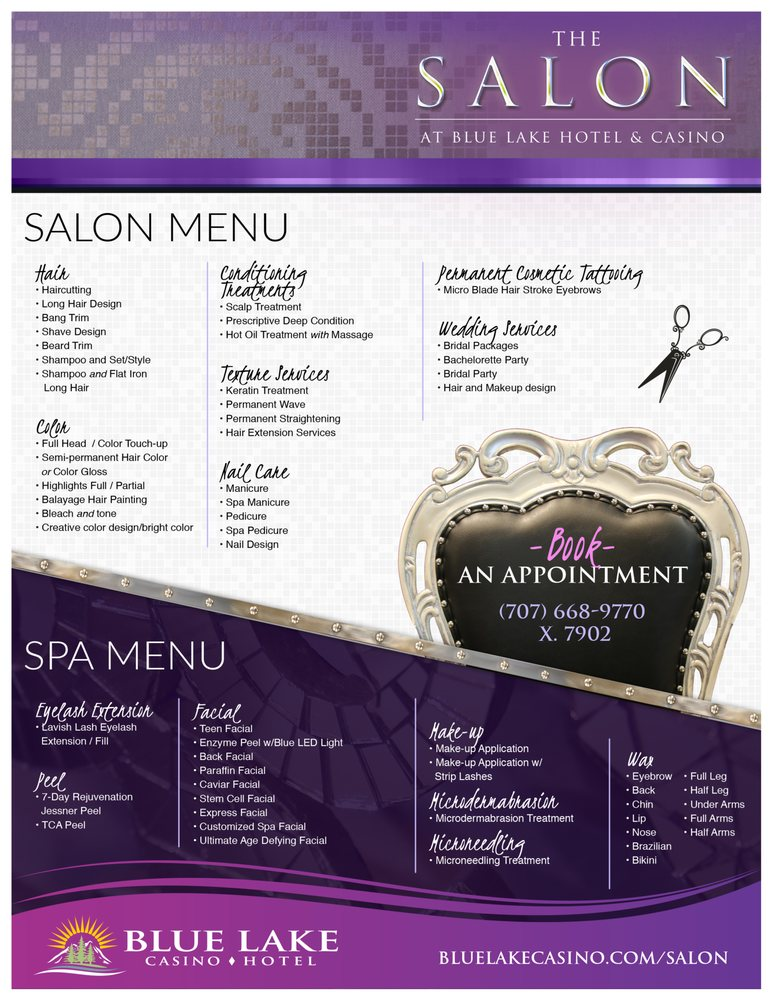 The Salon at Blue Lake Casino & Hotel: 777 Casino Way, Blue Lake, CA