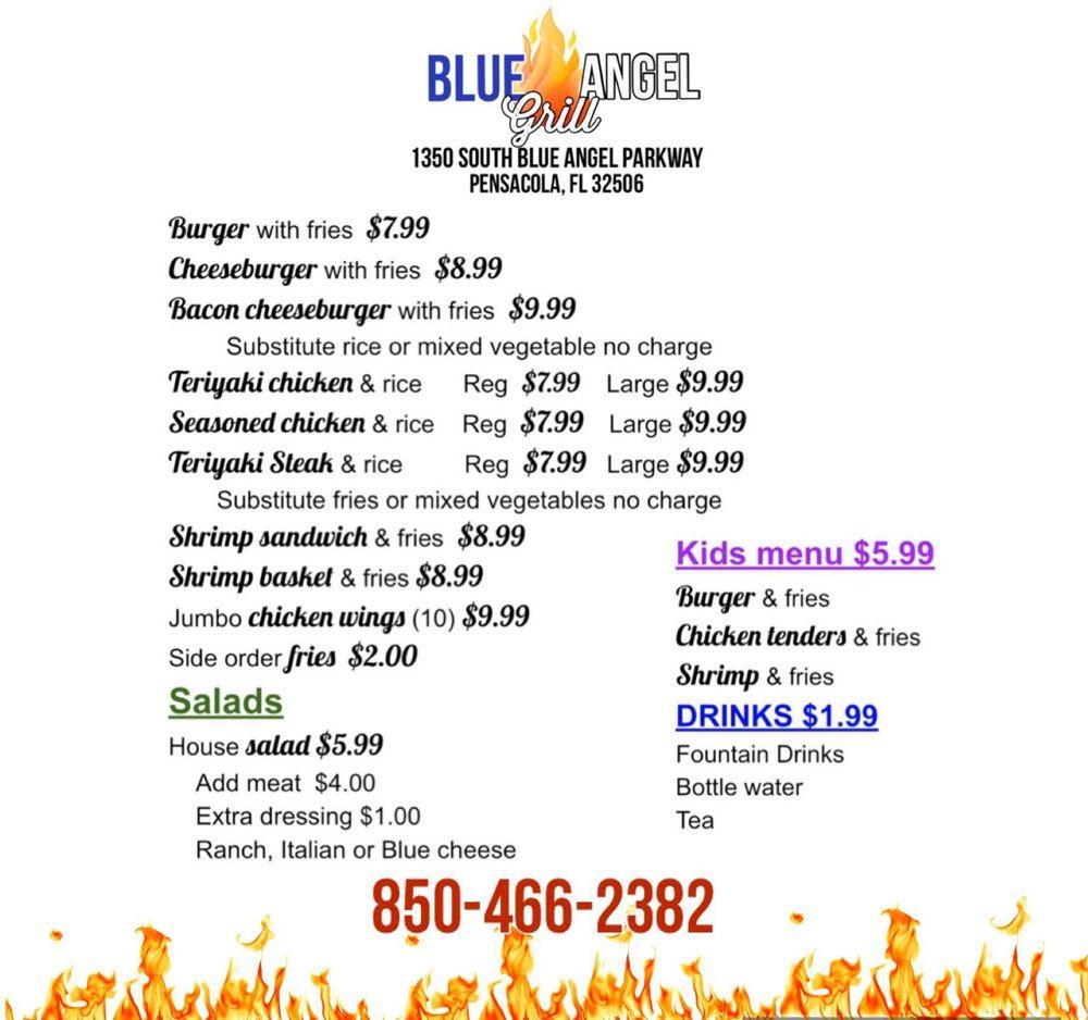 Blue Angel Grill: 1350 S Blue Angel Pkwy, Pensacola, FL