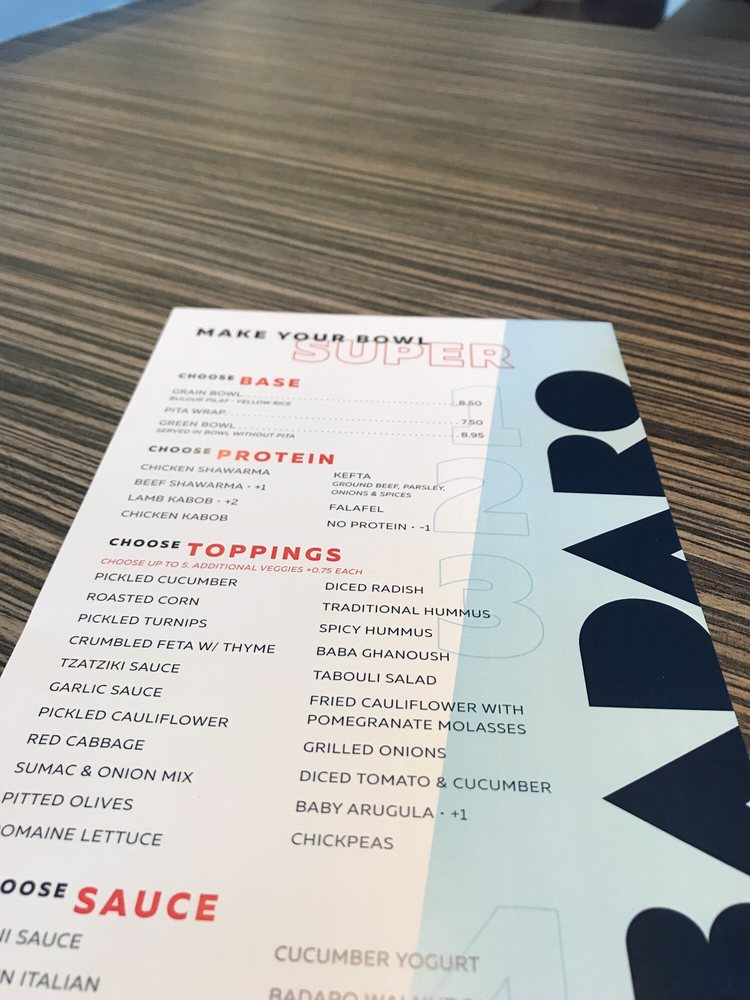 simple menus with usual sides yelp