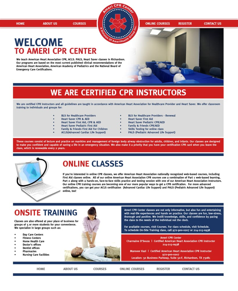 Ameri Cpr Center Cpr Classes 50 Business Pkwy Richardson Tx