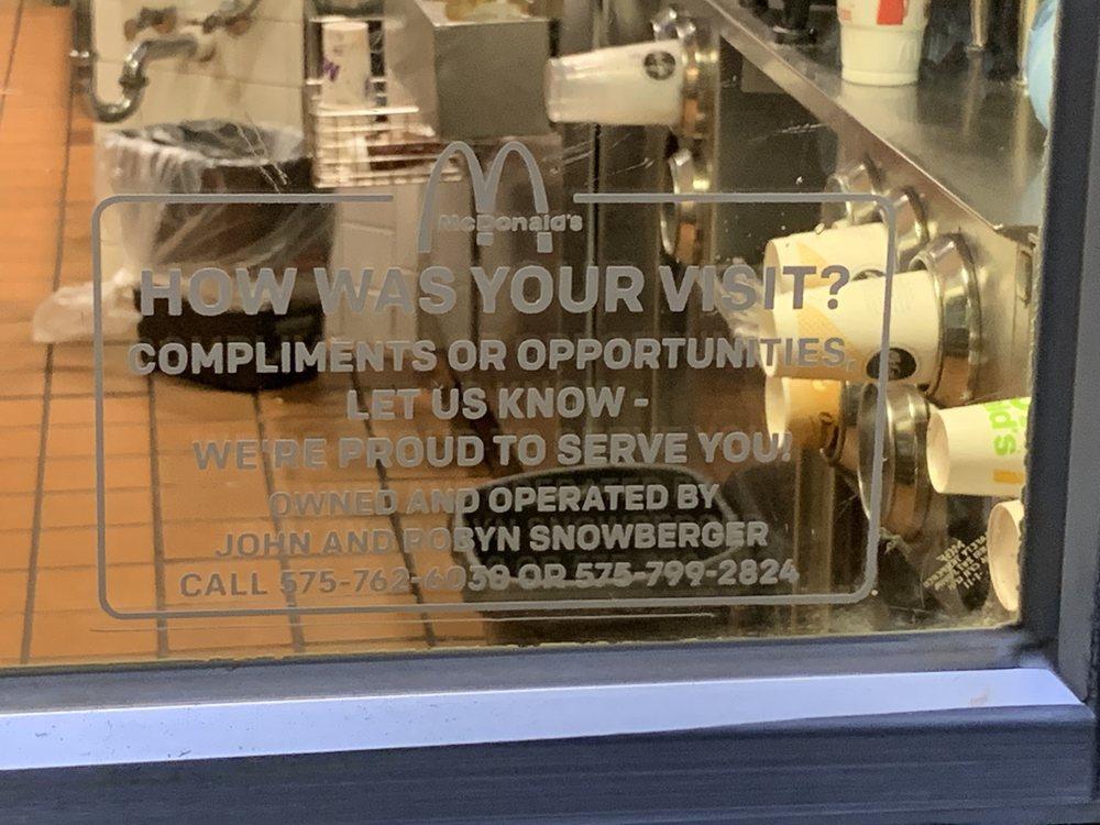 McDonald's: 505 N Dallas, Lamesa, TX