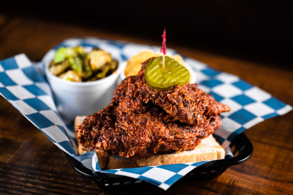 Food from Palmer's Hot Chicken
