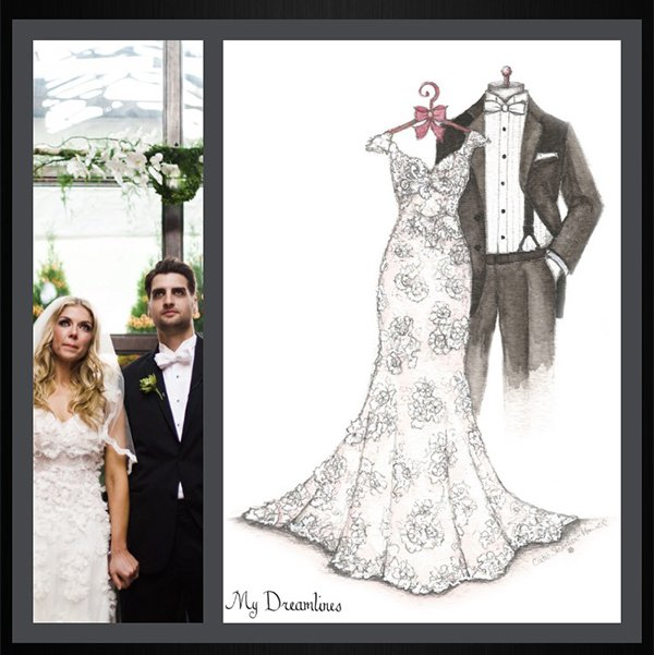 Dreamlines Wedding Dress Sketch: 200 Fox Creek Dr, O'fallon, MO
