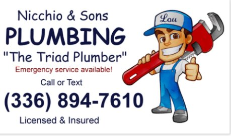 Nicchio & Sons Plumbing: Clemmons, NC