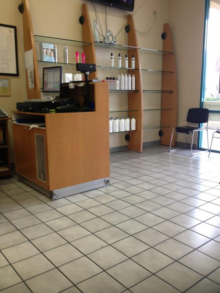 Nice waiting area yelp for Sams salon