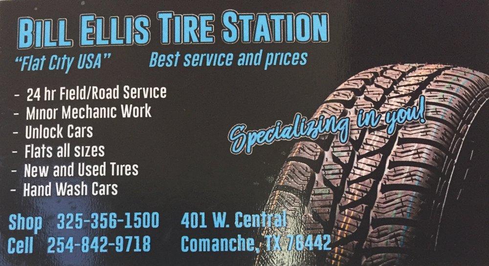 Bill Ellis Tire Station: 401 W Central Ave, Comanche, TX